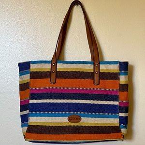 Fossil Striped Handbag